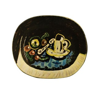 1955 Pablo Picasso Still Life Ceramic Plate, Original Period Swiss Lithograph For Sale