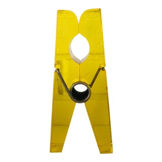 Giant Yellow Lucite Clothespin For Sale