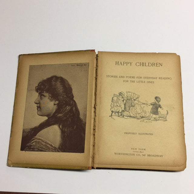 "1889 ""Happy Children "" Lithographs Book For Sale - Image 4 of 13"
