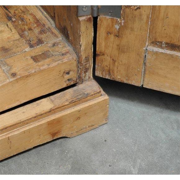 Brown Two Door Pine Cabinet For Sale - Image 8 of 9