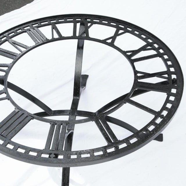 Antique Cast Iron Clock Face Coffee Table For Sale - Image 5 of 11