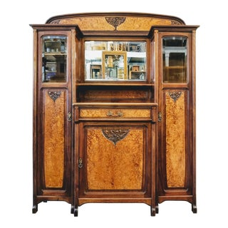 1900s Art Nouveau Gauthier-Poinsignon Ecole Nancy Main Buffet/Sideboard For Sale