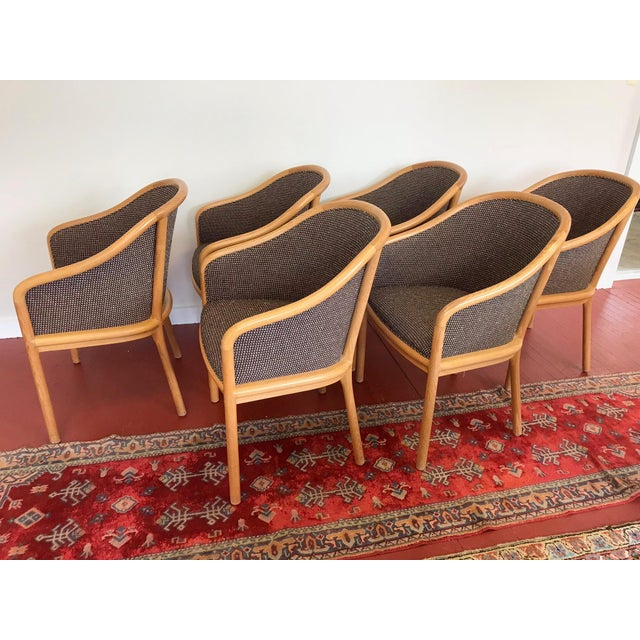 "Contemporary Ward Bennett for Brickel Associates (Now Geiger) ""Landmark Chair"" From Herman Miller - Set of 6 For Sale - Image 3 of 11"