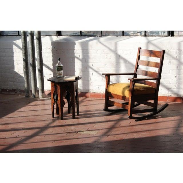 Arts & Crafts 1900s Antique L & Jg Stickley Rocking Chair For Sale - Image 3 of 12