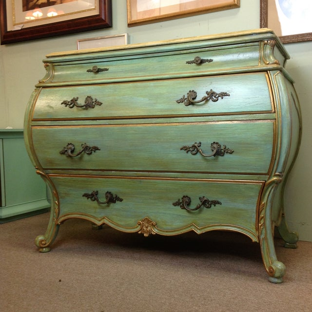 Large Light Green Painted Chest - Image 8 of 8