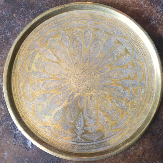 Etched Brass Tray - Image 4 of 6