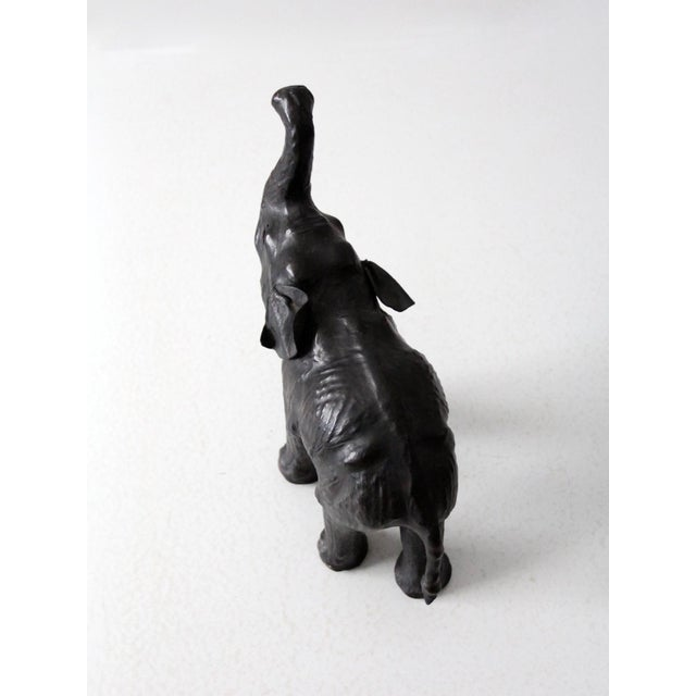 Black Vintage Leather Elephant Figure For Sale - Image 8 of 10