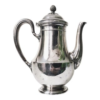 Vintage Christofle Silver Plated Teapot From Compagnie Des Messageries Maritimes For Sale