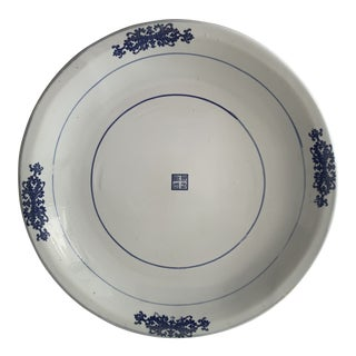 Large Blue & White Chinese Serving Plate For Sale