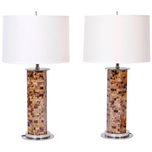 Horn Veneer Table Lamps - A Pair For Sale In West Palm - Image 6 of 6