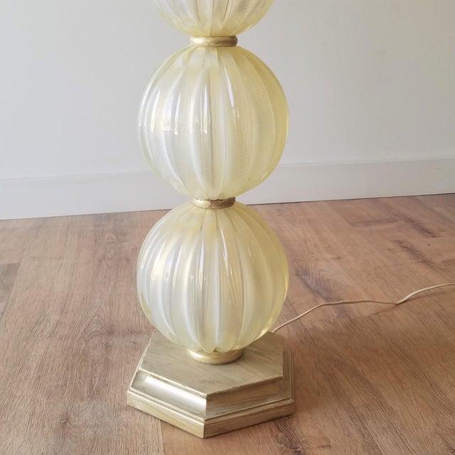 Murano Mid 20th Century Italian Murano Aventurina Glass Table Lamp For Sale - Image 4 of 13