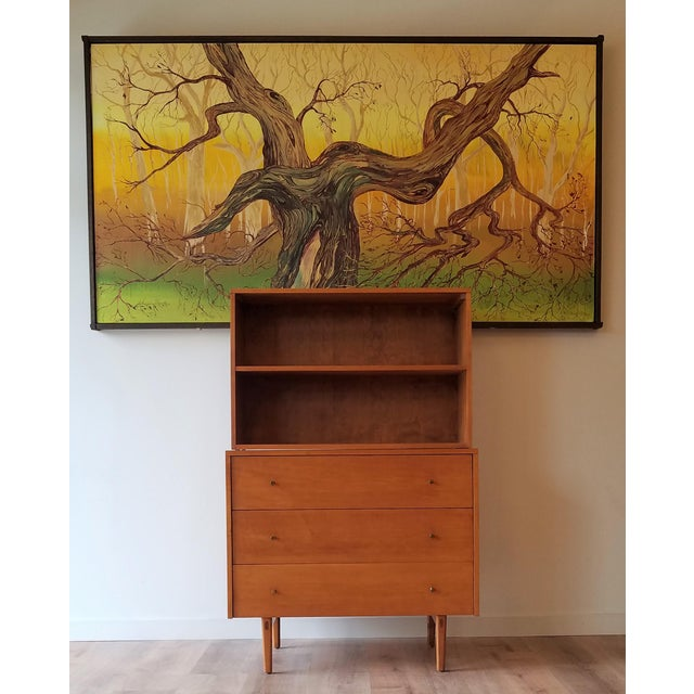 This Paul McCobb maple bookcase/display case for Planner Group is both a simple clean design and well constructed. McCobb...