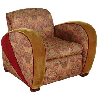 Art Deco Jazz Club Chair in the Style of Frankl's Speed Chair