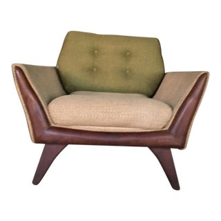 Kraft Associates Mid Century Modern Upholstered Chair With Walnut Legs For Sale