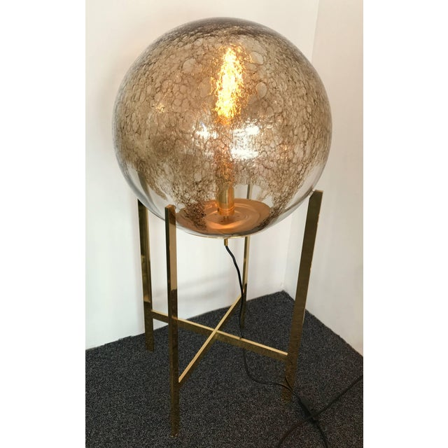 Mid-Century Modern Brass Floor Lamps by La Murrina Murano Glass, Italy, 1990s For Sale - Image 3 of 10