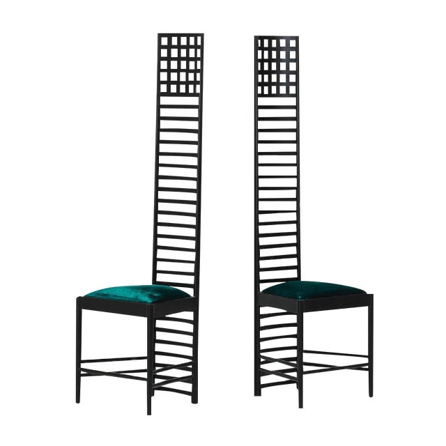Charles R. Mackintosh Cassina Ladder Back Chairs - A Pair For Sale