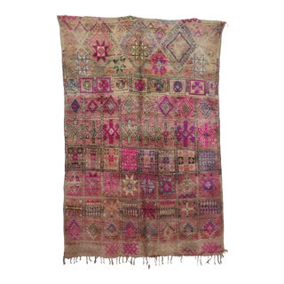 "Boujad Vintage Moroccan Rug, 5'11"" X 8'8"" For Sale"