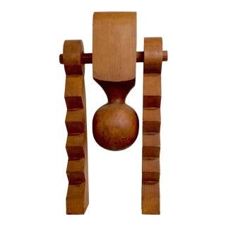 1970s Vintage David Meiklem Wooden Sculpture For Sale