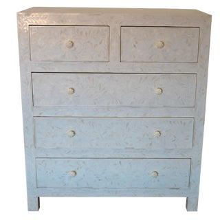 Boho Chic White Bone Inlay Standard Dresser