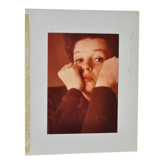 Judy Garland Color Photograph c.1950 For Sale