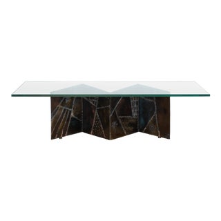 Paul Evans for Directional PE-11 Angle Zig Zag Cocktail Table For Sale