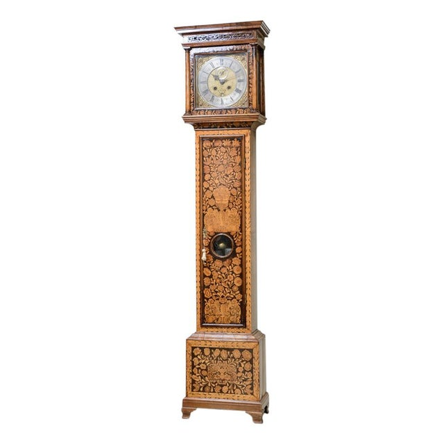 D. Listaungon English Mahogany Inlaid Clock, 18th C. For Sale - Image 9 of 9