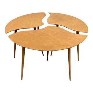 """1960s Swedish Segmented """"Toothpick"""" Table - 3 Pieces For Sale"""