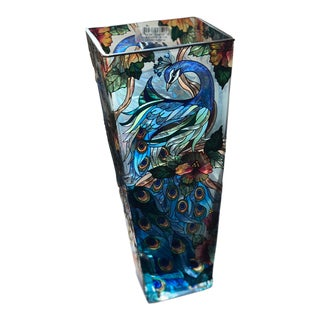 Traditional Amia Peacock Vase For Sale
