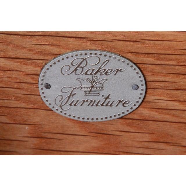 Charles Pfister for Baker Art Deco Primavera Three-Drawer Oval Commode Bachelor Chest For Sale - Image 12 of 13