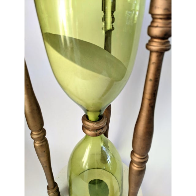 Glass Oversized Hourglass Timer For Sale - Image 7 of 10