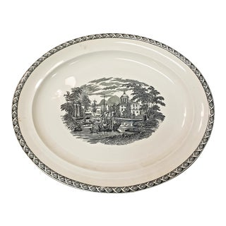 1960s Lugano Black Oval Serving Platter by Wedgwood For Sale