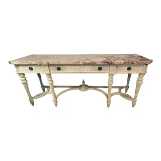 Louis XVI Style Swedish Painted Sideboard, Console or Serving Table For Sale