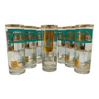 1960s Mid-Century Culver Highball Glasses - Set of 8 For Sale