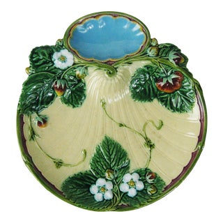 Early Minton Strawberry Server - 1868 - England For Sale