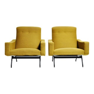 French Armchairs by Joseph-André Motte - a Pair For Sale