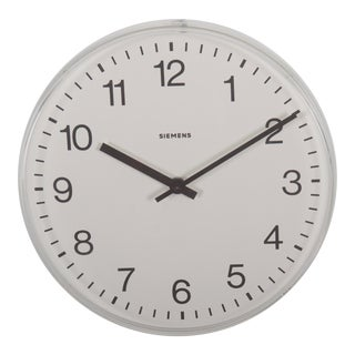 Siemens Factory, Workshop or Train Station Clock For Sale