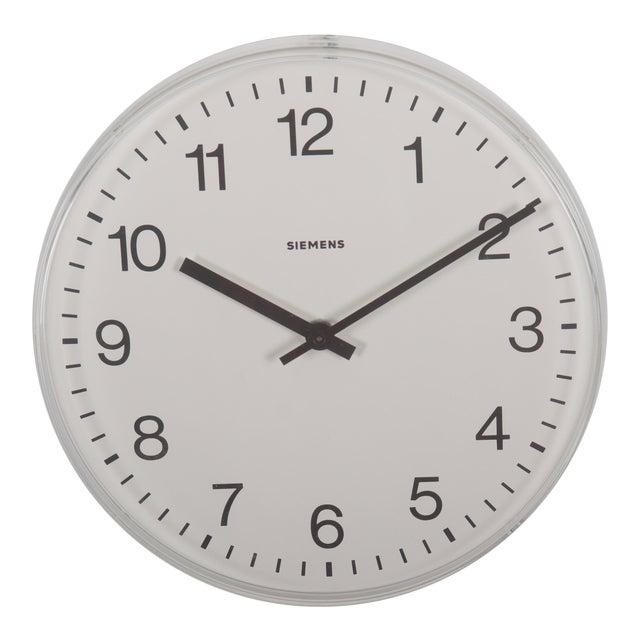 Siemens Factory, Workshop or Train Station Clock For Sale
