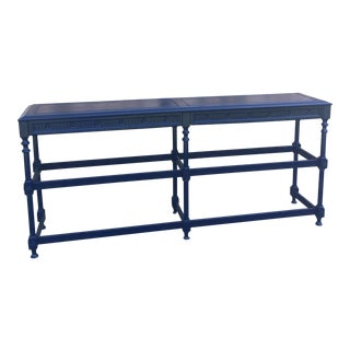 Navy Blue Metal Console Table