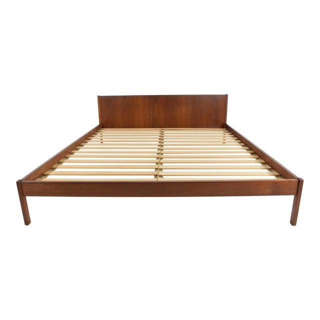 Danish Teak Queen Bed Frame For Sale
