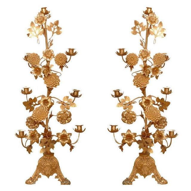 Gilt Bronze Candelabras - a Pair For Sale - Image 10 of 10