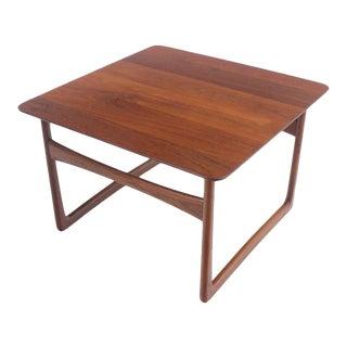 Scandinavian Modern Solid Teak Side / Occasional Table Designed by Peter Hvidt For Sale
