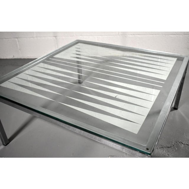 Mid-Century Modern 1970s Mid Century Modern Chrome and Glass Mirrored Backgammon Table For Sale - Image 3 of 4