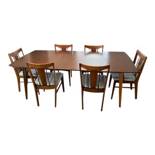 Mid Century Modern Dining Set - 7 Pieces For Sale
