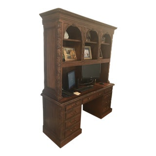Seven Seas by Hooker Furniture Desk Credenza With Hutch For Sale