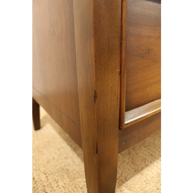 Brown Mid-Century Danish Modern Drexel Walnut Tall Chest For Sale - Image 8 of 10