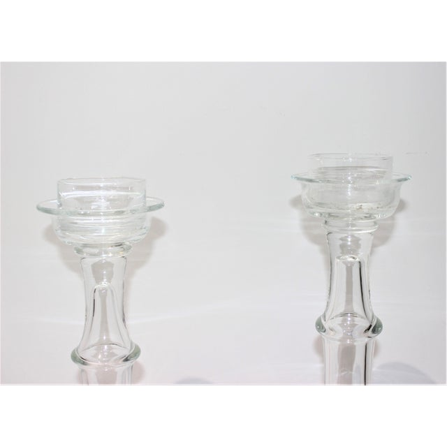 Vintage Blenko Glass Candle Holders - a Set of 2 For Sale In West Palm - Image 6 of 13