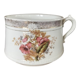 Adamantine Floral & Gold Foil Antique China Basin Bowl Planter
