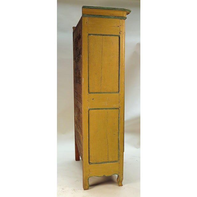 Italian 19th Century Italian Painted Armoire Bookcase For Sale - Image 3 of 5
