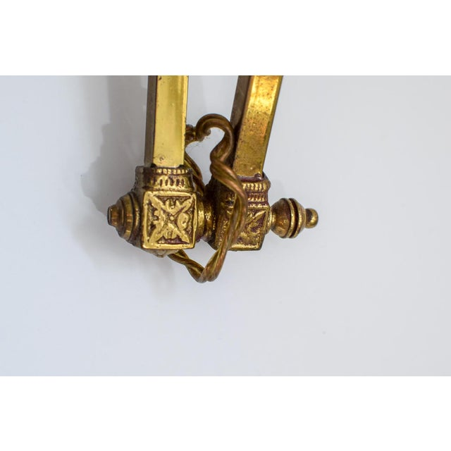 Gold Early 20th Century Metal Wall Lamps - a Pair For Sale - Image 7 of 11