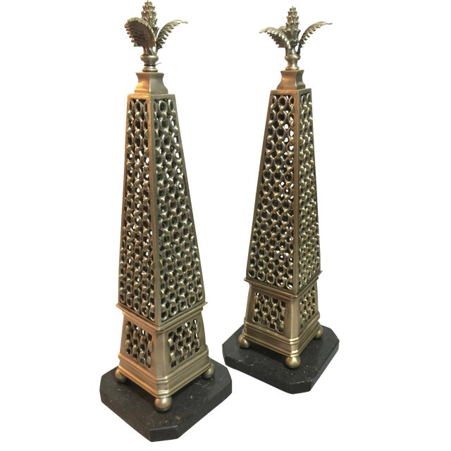 John Richard Metal Obelisks - A Pair For Sale